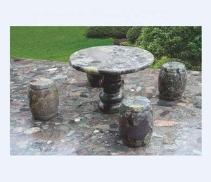 Granite  Garden Table-Stone Table With Chairs/Marble Garden Bench