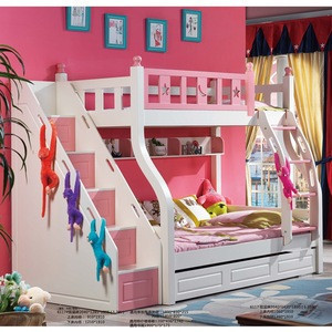 Hot Sale Cheap Quality Wood Beds Double Children Bunk Kids, Child Bed Kid Bunk