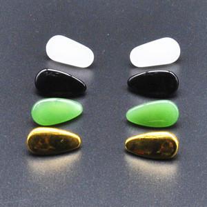Hot sale eyeglasses parts of jade stone nose pads for eyeglasses