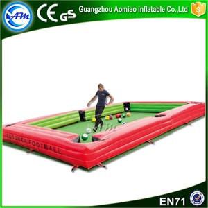 New arrival inflatable billiard table snookball billiard football snookball game for kids