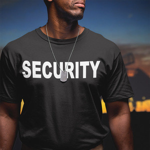 New Fashion Men's Swat Police Department Security T shirt Safety Guard Cool Cotton Hipster Casual Printed Tops Shirt For Men