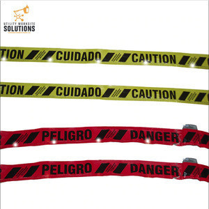 Newest product durable high quality warning reusable Lighted Danger Tape