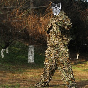 Oem Wholesale foreast 3D leaves camouflage ghillie suit hunting suit military+uniforms