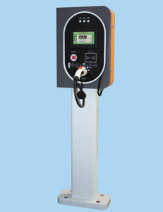 Public operating AC EV charging station with RFID payment touch screen and internet communication