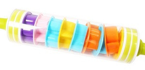 Roll and store pin,plastic roll pin with cookie cutters rolling cookie cutter cookie roller