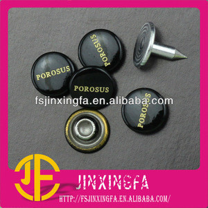 The Painted Black & Laser Customized Logo Metal Rivet For Decoration / Brass Rivets / rivets