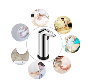 Touchless Automatic Soap Dispenser Infrared Motion Sensor Stainless Steel Dish Liquid Hands-Free Auto Hand Soap Dispenser