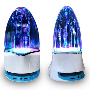 Water dancing  wireless speaker with LED light mini music subwoofer mp3 player