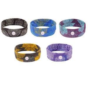 Wholesale Bohemian style yoga Sweatband sport head band custom women nurse headband with button