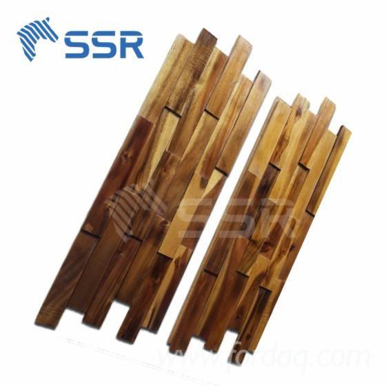 Acacia Wood Wall Tiles/ Wood Wall Panelling