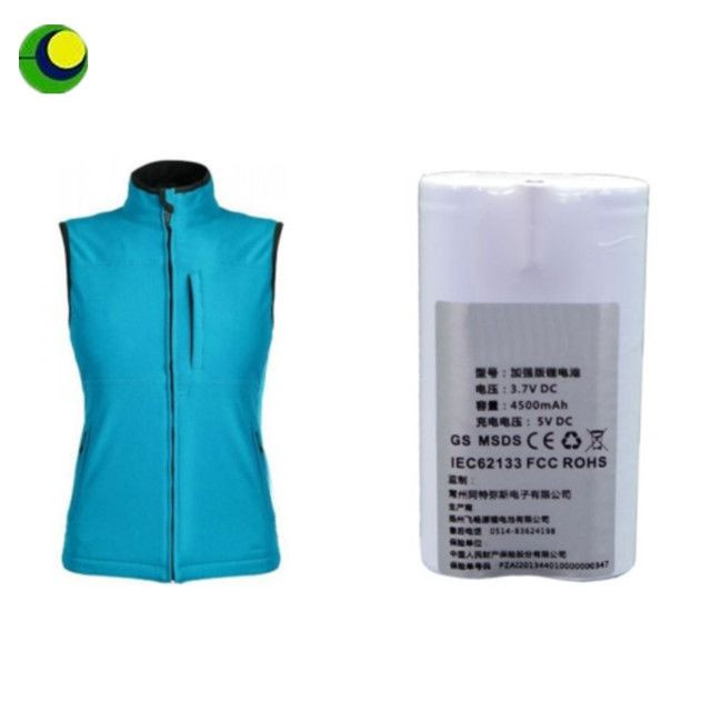 Chinese manufacturer special type 7.4v 2200mah rechargeable battery pack for Heat Vest
