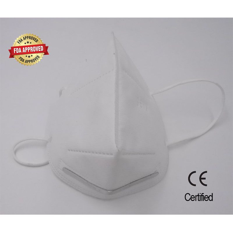 Disposable KN95 and N95 repiratory face mask without breathing valve