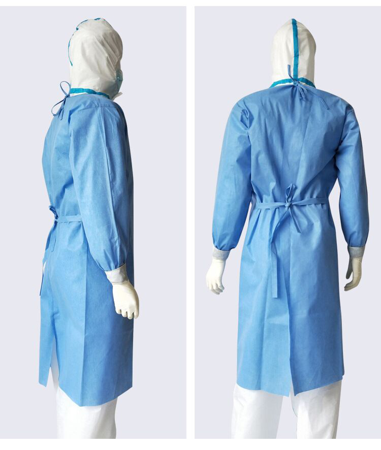 Disposable Isolation gown (no medical) non-woven clothing