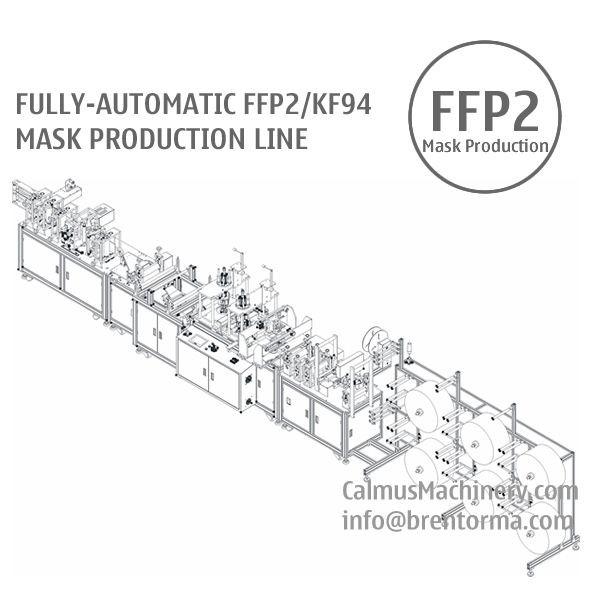 Fully-automatic FFP2/KF94 Respirator Mask Making Machine Production Line