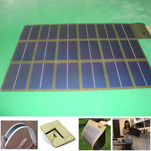 112W Foldable solar charger of amorphous cells solar blanket in RED