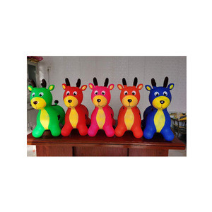 1250g rubber inflatable ride on jumping animal