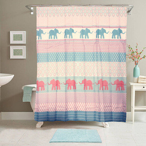 14-Piece Bath Set with Shower Curtain and Bath Rug - Floral Print