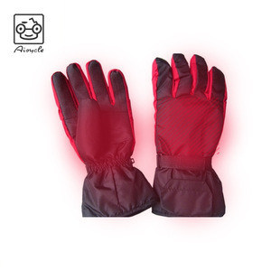 Battery Powered Rechargeable Heated Gloves for Men and Women Insulated Electric Heating Gloves for Winter Outdoor Cam