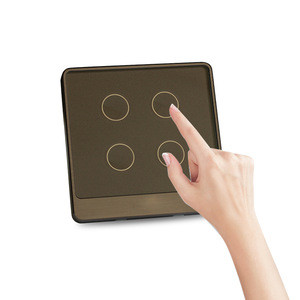 Cheap price UK Touch/WiFi/433 RF/APP remote home controller home wifi light smart touch switch