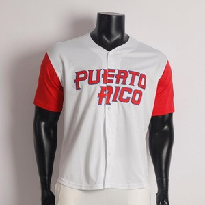 Clemente Puerto Rico Embroidered For International Game Tackle Twill Embroidery Custom Baseball Jersey