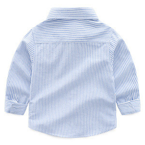 Custom high quality long sleeve striped boys casual shirts