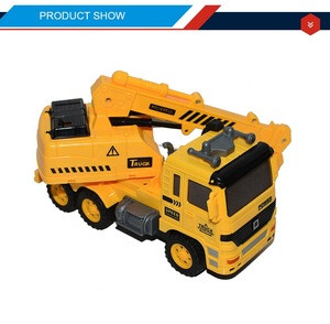 Engineering toy rc construction vehicles with 3d light