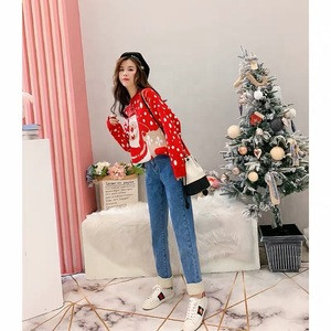 Factory Outlet 2019 New Arrivals High-quality Winter Ugly Christmas Pullover Women Sweater With Deer