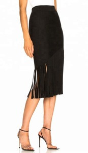 Fashion Black Women Skirt,Wholesale Custom Ladies Long Skirt
