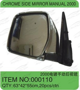 For hiace chrome side mirror manual 2000 auto parts,body kits, bus commuter van 1994-2002