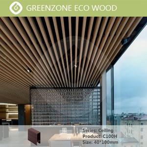 Foshan Greenzone WPC Exterior Wood Composite Ceiling PVC Panel