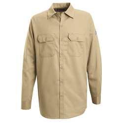 G7306 FR Long Sleeve Shirt Button Khaki XL
