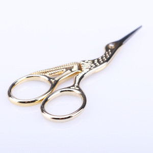 Gold Bird Style Stainless Steel Embroidery Scissors