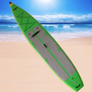 Green inflatable sup stand up paddle board surfing, customized size & color ,pump&bag