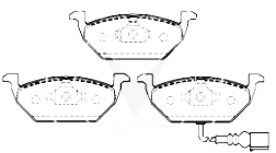High-performance auto brake pads for Jetta OEM GDB1658