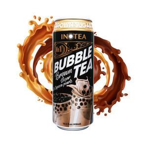 INOTEA 490ml brown sugar bubble milk tea canned drink