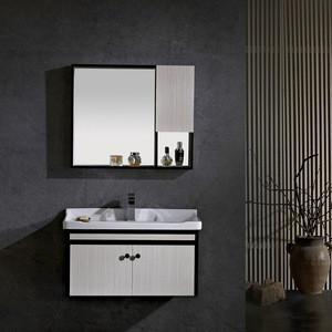 Import New Modern Design Bathroom Vanities With Tops Wash Basin Mirror Cabinet Aluminum Bathroom Cabinet With Mirror Cabinets Sink From China Find Fob Prices Tradewheel Com
