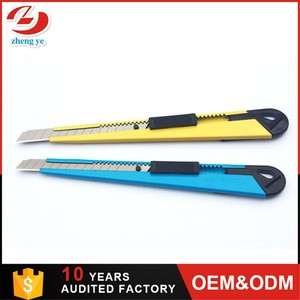 Retractable 9mm office cutting supplies safety snap blades cutter knife