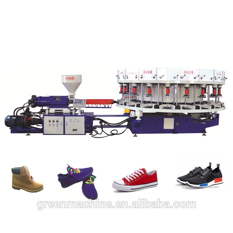 Rotary full automatic leather shoe footwear making machine