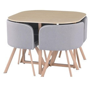 Import Smart Furniture Space Saving Round 4 Seater Dining Table Set Wooden Dining Room Furniture Dining Tables And Chairs Set From China Find Fob Prices Tradewheel Com