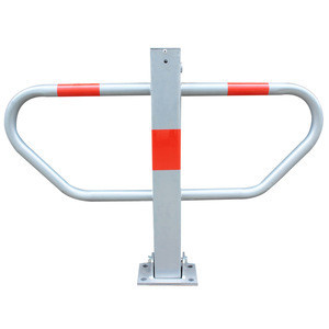 Super September Promotion Manual Control Red & Silver Anti-theft Steel Car Parking Space Blocker Device