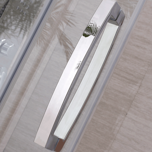 The classic appearance of the practical stainless steel accessories of the glass shower rooms