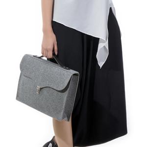 Wholesale leather 17.5 hot selling felt laptop bag