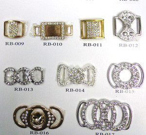 Wholesale Rhinestone Buckles Invitation Ribbon Slide Heart round square  buckles for belts crystal