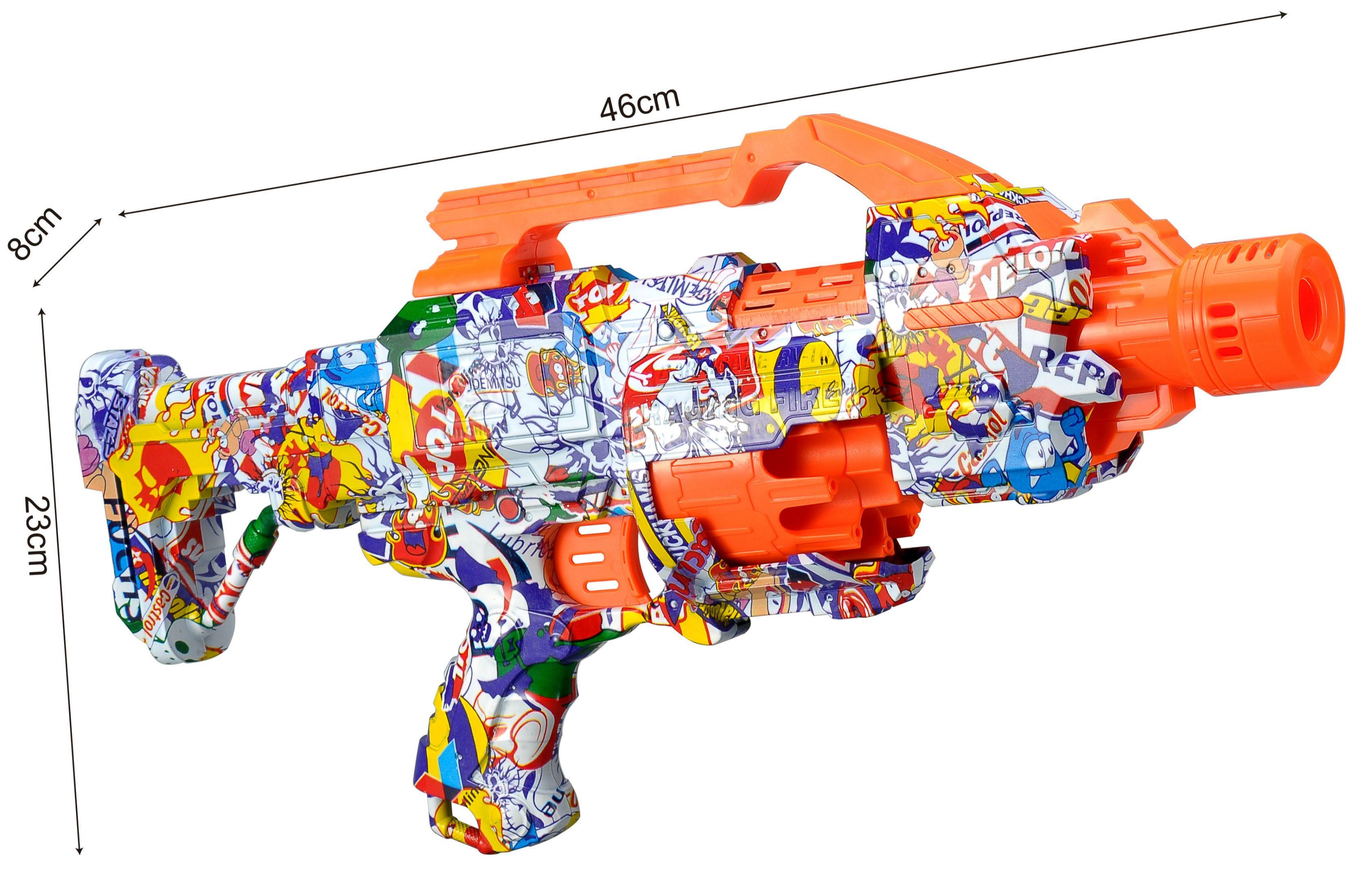 Camouflage B/O soft bullet gun