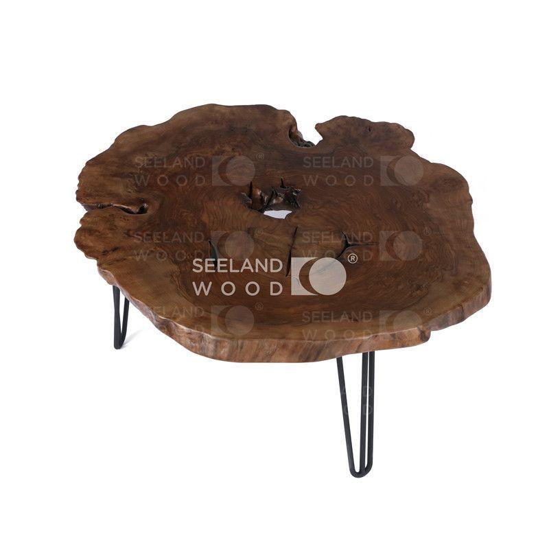 Walnut burl coffee table