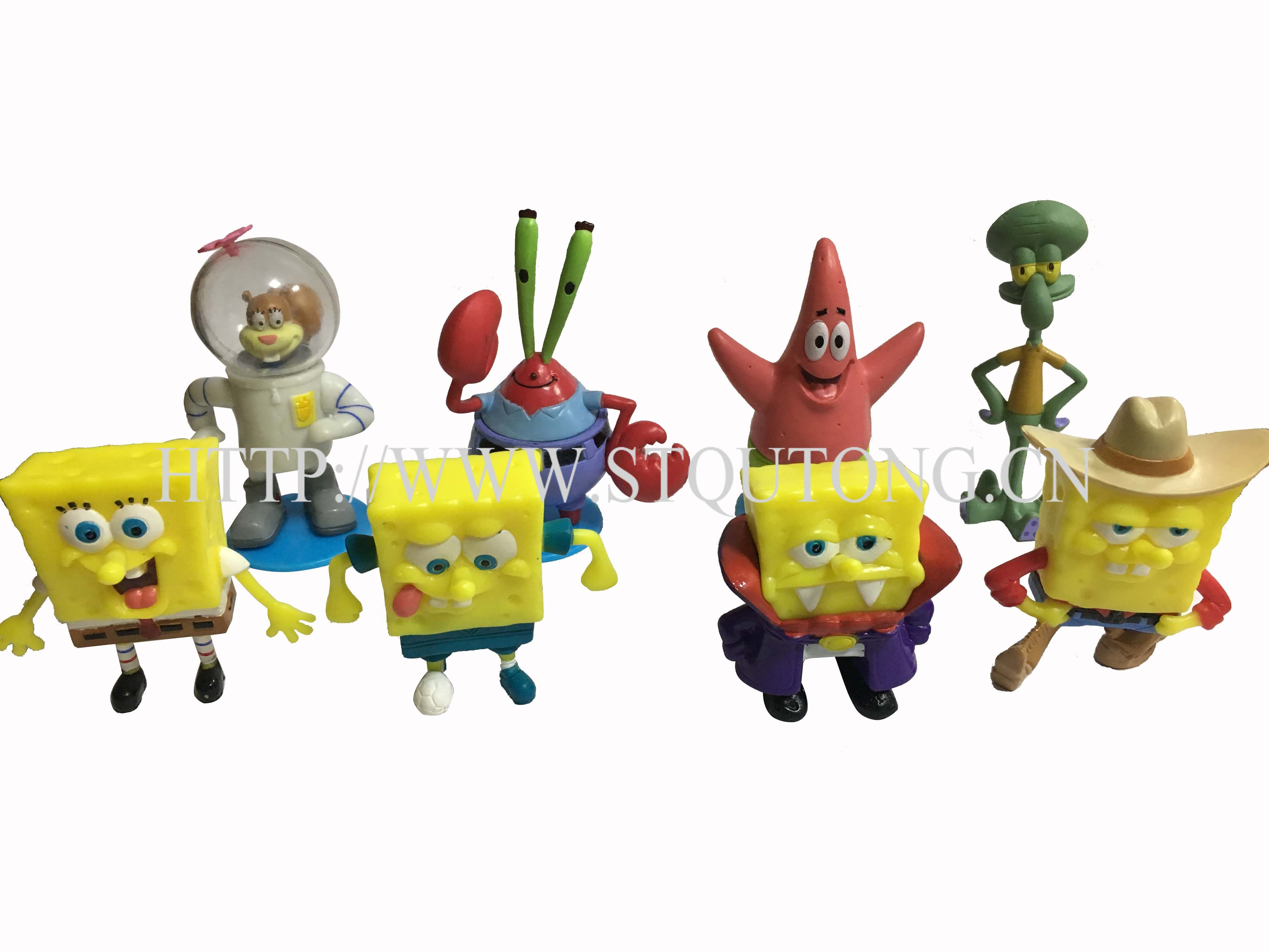 Good quality spongebob vinyl figurine toys for chocolate surprise egg
