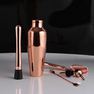 13 Pcs Stainless Steel Cocktail Shaker Set Cocktail Making Kit Bartender Bartending Kits Bar Tools Cooper Painted