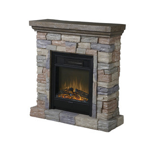 2016 new design Polystone Mantel Electric Fireplace with Remote Control