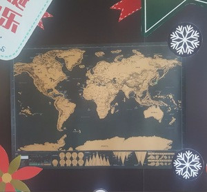 2017 Hot sale scratch off map poster Personalized Journal Map