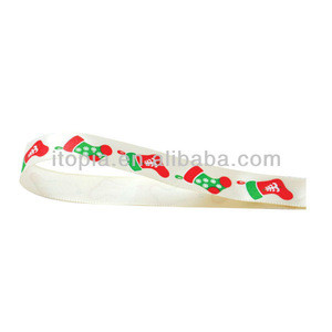 2017/factory price gift packaging ribbon with stockings for christmas(IBX-103B)